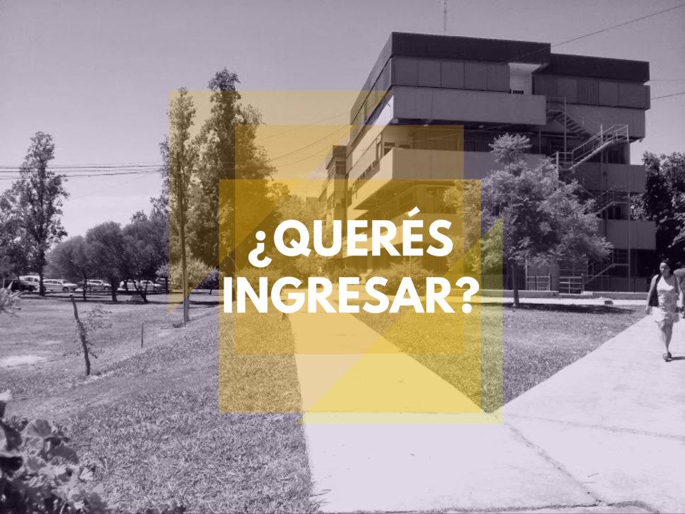 Información sobre el Ingreso 2017 a nuestra Facultad